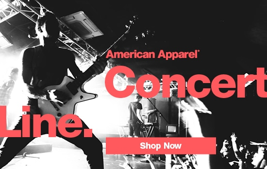Shop our American Apparel® Concert Line collection of premium basics for men and women