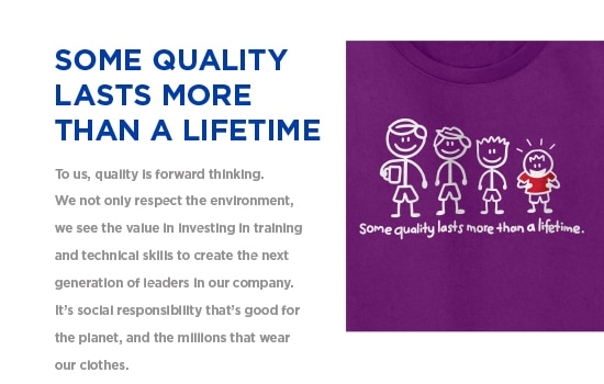 Some Quality Last More Than A Lifetime - To us, quality is forward thinking. | Gildan® USA