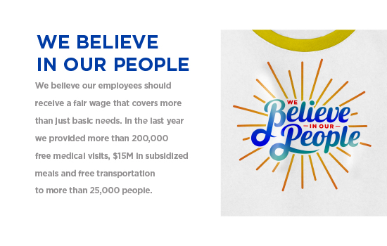 We Believe In Our People - We believe our employees should receive a fair wage that covers more                 than just basic needs... | Gildan® USA