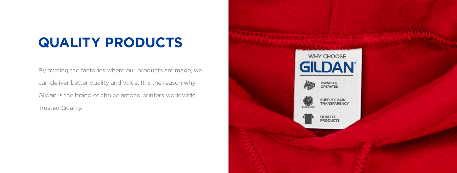 By owning the factories where our products are made, we can deliver better quality and value. | Gildan® USA