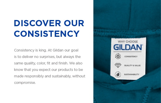 Vertical integration | Discover Our Consistency. At Gildan our goal is to deliver no surprises, but always the same quality, color, fit and finish. | Gildan® USA