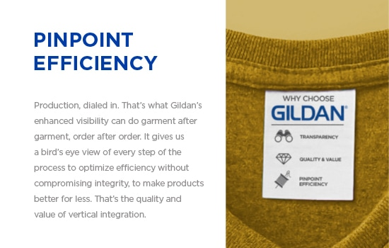 Vertical integration is invaluable. For 30 years, Gildan has put it to practice. | Gildan® USA