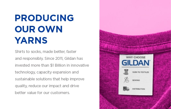 Shirts to socks, made better, faster and responsibly. | Gildan® USA