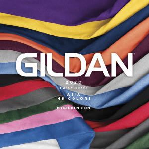 Download our 2020 Gildan ASIA Color Guide