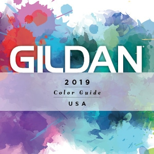 View our 2019 Gildan USA Color Guide