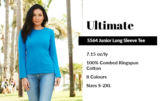 View our 5564 Junior Long Sleeve Tee from Alstyle Canada