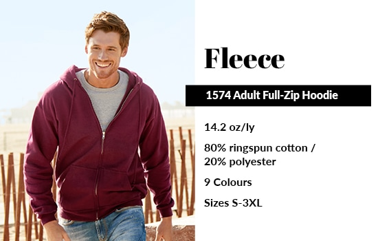 View our 1574 Adult Full-Zip Hoodie from Alstyle Canada