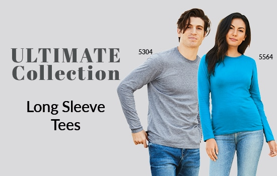 Shop long sleeve tees in our Ultimate Collection from Alstyle Canada