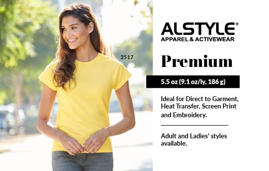 Blank Apparel Wholesale! Shop Premium, View Premium Collection from Alstyle Canada