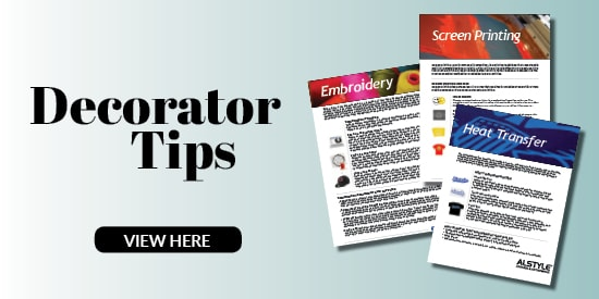 Learn more about t-shirt printing with Decorator Tips from Alstyle
