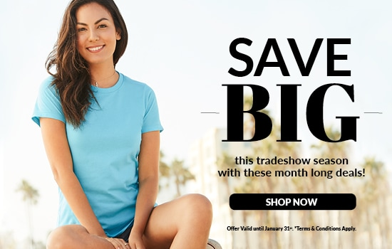 Shop our Tradeshow Season Sale, discounts on styles 5562, 5564, 5501, 5083, 5080 from Alstyle USA