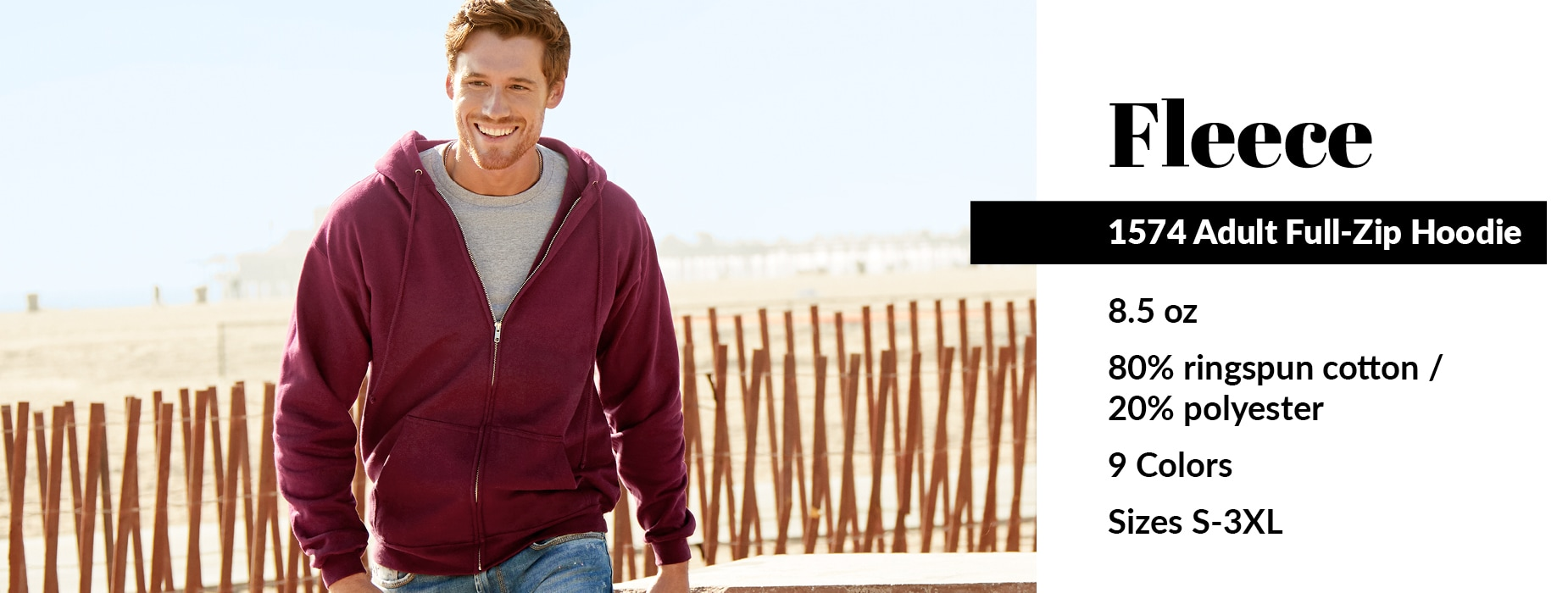 Shop now for our 1574 style, Adult Full-Zip Hoodie from Alstyle USA