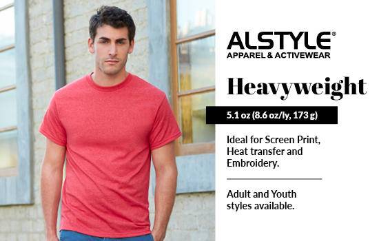 New! Shop Heavyweight, View our Heavyweight collection from Alstyle USA
