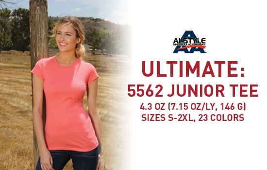 Shop 5562, Junior Blank Tee from Alstyle USA