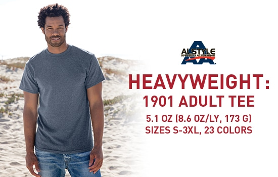 Shop 1901, Adult Heavyweight Plain Tee from Alstyle USA