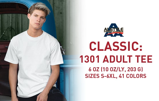 Shop 1301, Classic Adult Tee in bulk from Alstyle USA