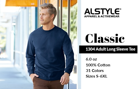 Shop now for our 1304 style, Adult Long Sleeve Tee