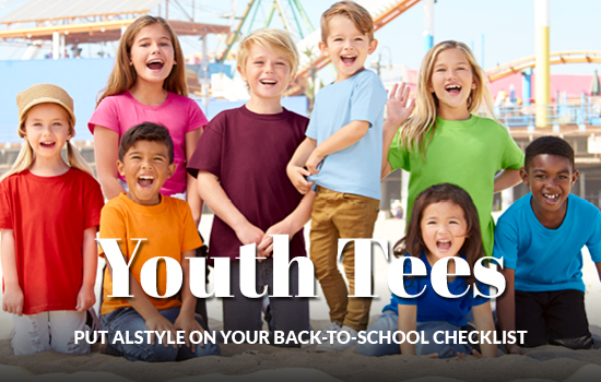 Shop now, View our back to school youth tees