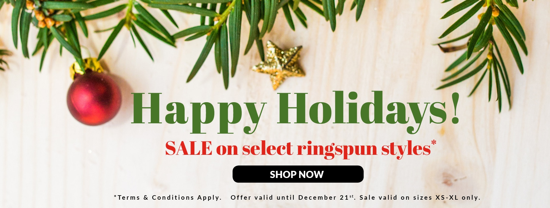 Shop our Christmas Sale on select shirt styles