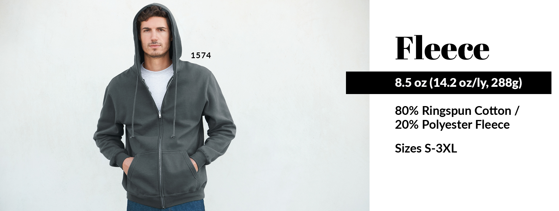 Shop now for our 1574 style, Adult Full-Zip Hoodie