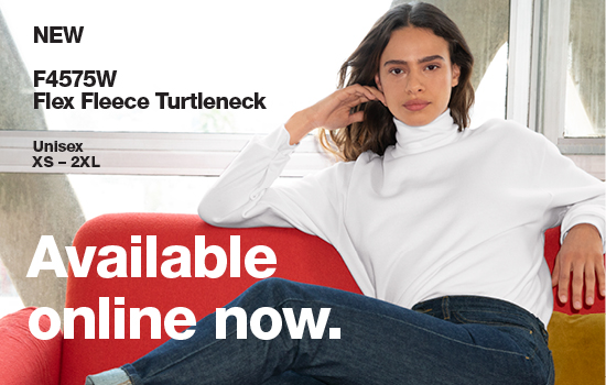 View Now F4575W Flex Fleece Turtleneck