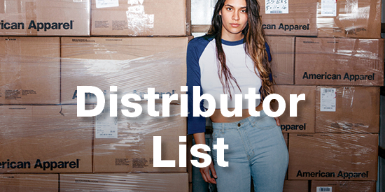 Find our American Apparel Wholesale Distributor List