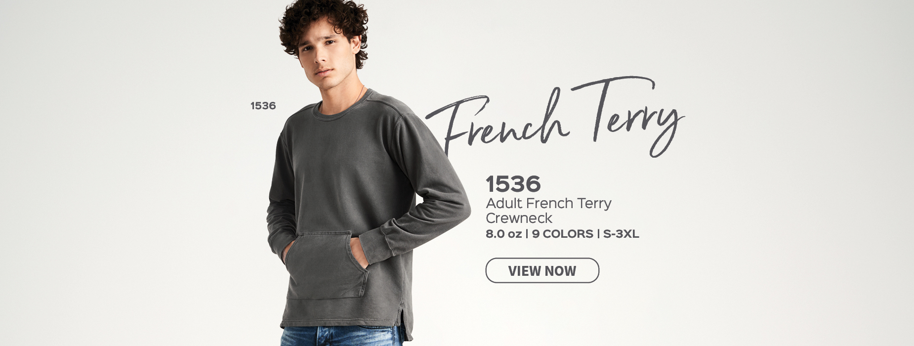 View Adult French Terry Crew