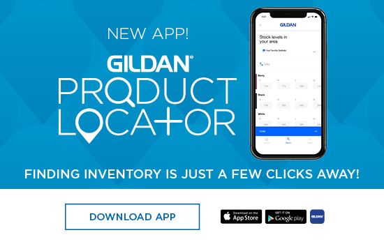 Get the Gildan Product Locator App on your iOS or Android device. Finding inventory is just a few clicks away!