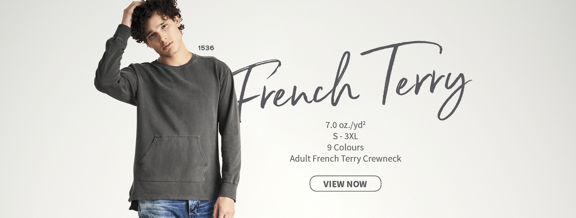 View now 1536 Adult French Terry Crewneck