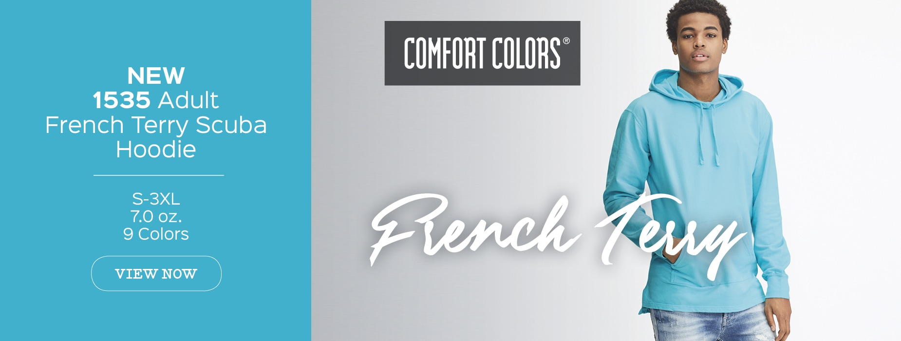New Style 1535, Adult Comfort Colors French Terry Scuba Hood View Now