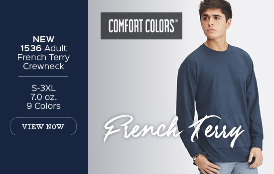 New Style 1536, Adult French Terry Crewneck View Now