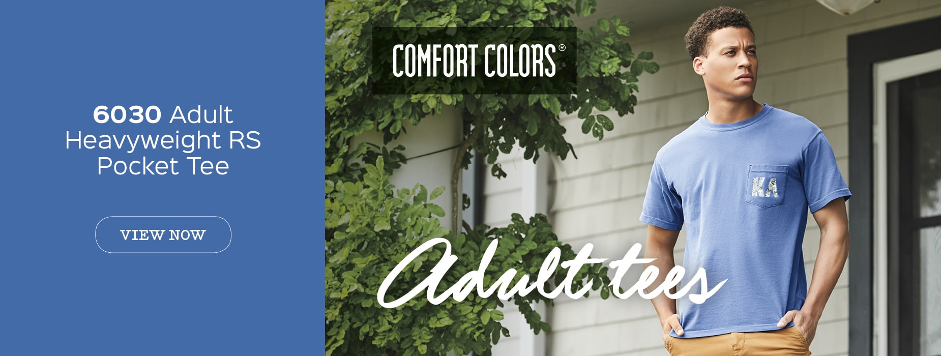 View 6030 Adult Pocket Tee from Comfort Colors