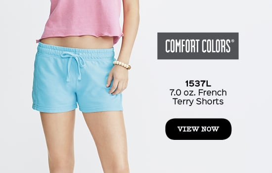 View 1537 Ladies' Frech Terry Short from Comfort Colors