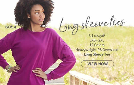 View now 6054 Oversized Long-sleeve Tee