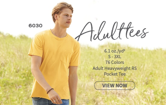 View now 6030 Adult Pocket Tee