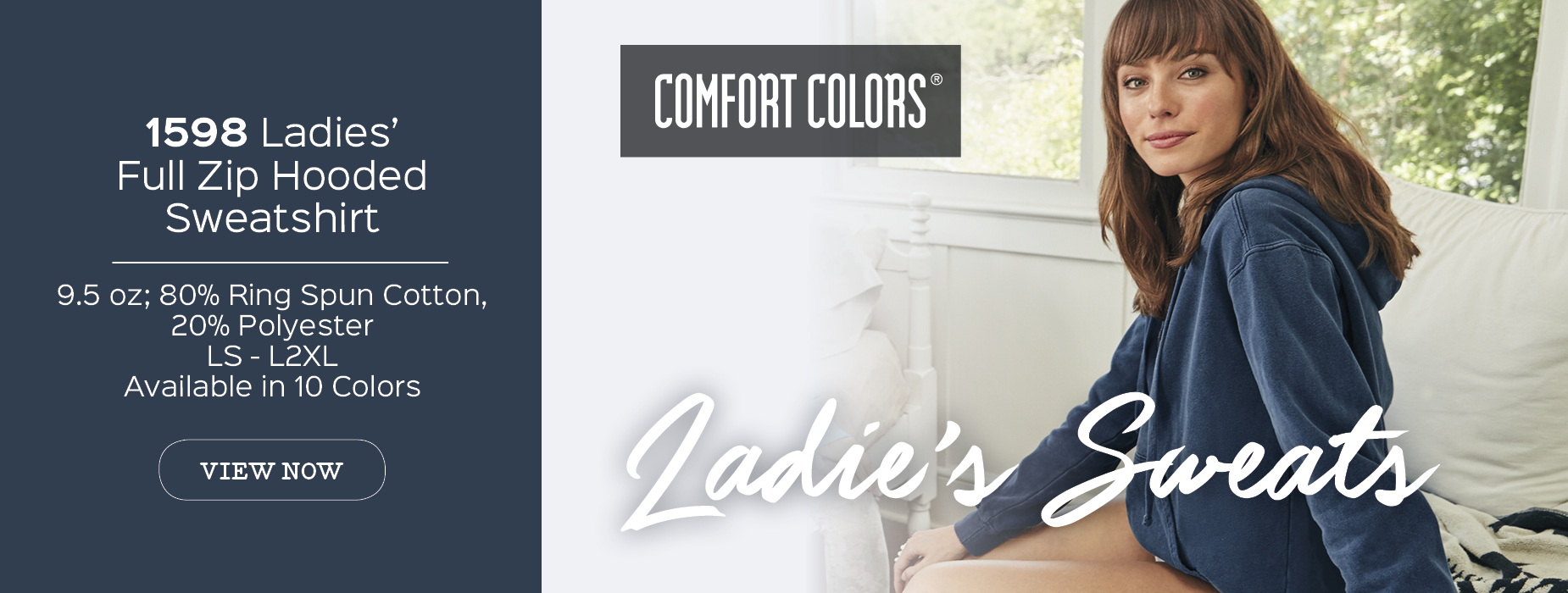 View now 1598 soft washed garment dyed Comfort Colors® ladies' full zip hooded sweat wholesale