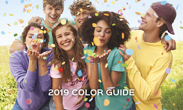 Access our Comfort Colors 2019 Apparel Color Guide