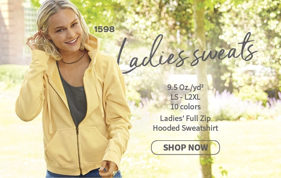 Shop now 1598 soft washed garment dyed ring spun Comfort Colors® Ladies' Full Zip Hooded Sweatshirt wholesale