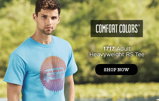 Shop now 1717 garment dyed Adult Tee from Comfort Colors® wholesale