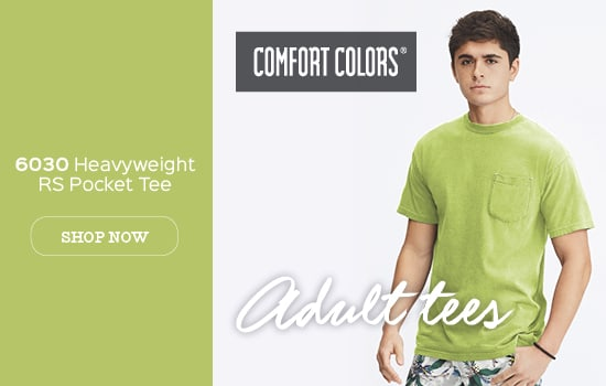Shop now 6030 garment dyed Comfort Colors® Unisex Heavyweight RingSpun Pocket tee wholesale