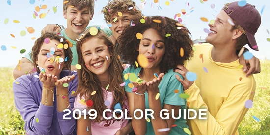 Access our Comfort Colors Color chart 2019, see seafoam, blue spruce, flo blue, chalky mint and many more