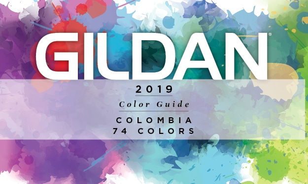 2019 Gildan Colombia Color Guide