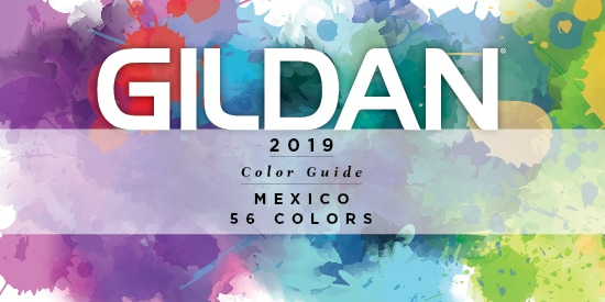 2019 Gildan Mexico Color Guide
