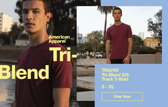 Shop our American Apparel TR401W Tri-Blend Men's Track TS, ファインジャージーTシャツ | Gildan® Brands Japan