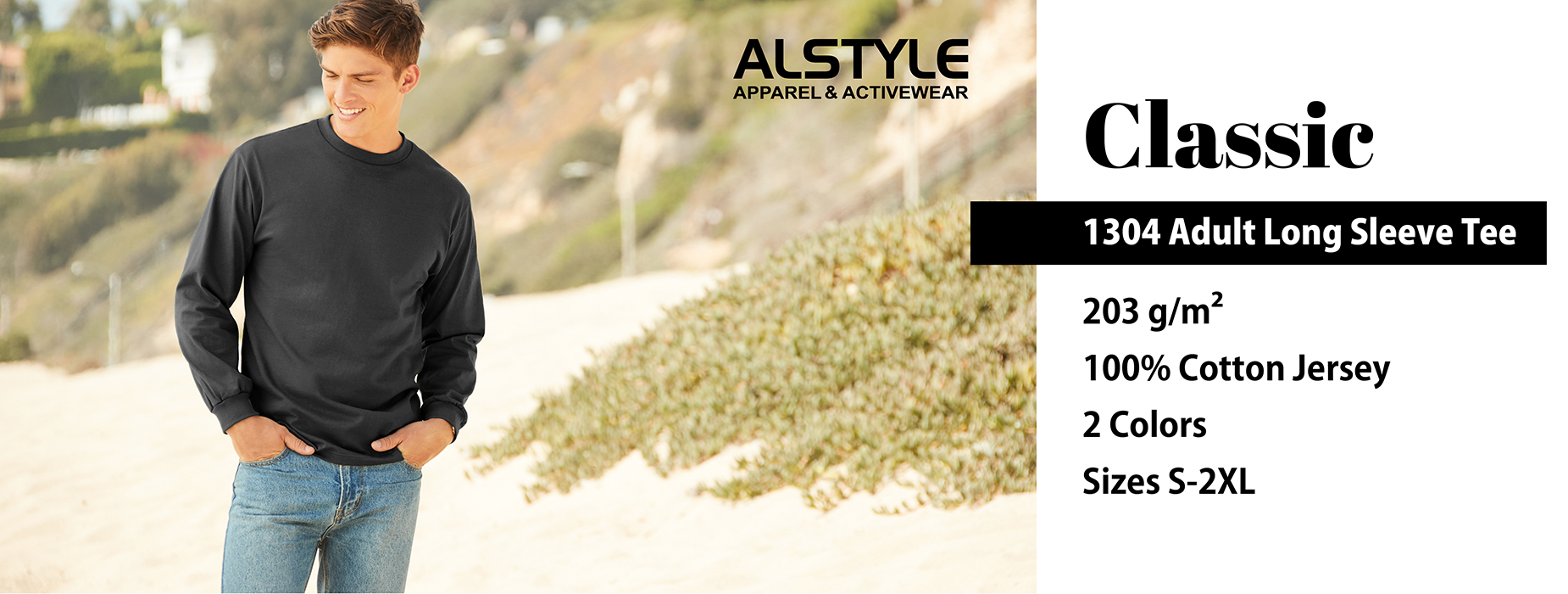Shop our Alstyle Long Sleeve Tee 1304, Adult Long Sleeve Tee, クラシック長袖Tシャツ | Gildan® Brands Japan