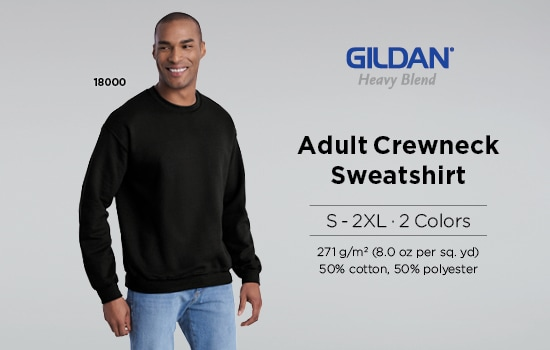 Shop our Gildan® Heavy Blend Adult Crewneck Sweatshirt | ヘビーブレンド クルーネックスウェットシャツ | Gildan® Brands Japan