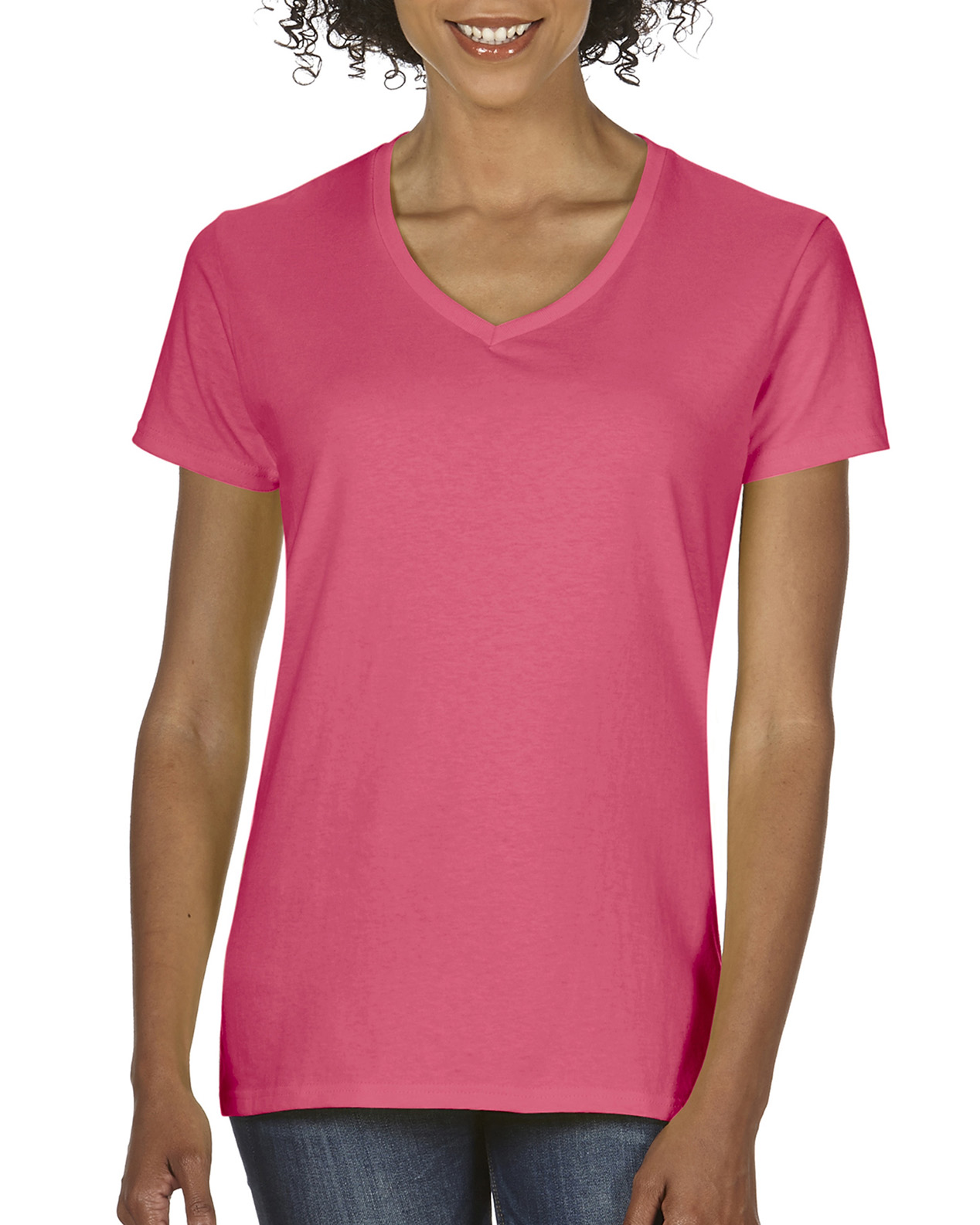 7062b478f4 5V00L | Gildan® Heavy Cotton™ | 5.3 oz/yd² | Ladies' V-Neck T-Shirt ...