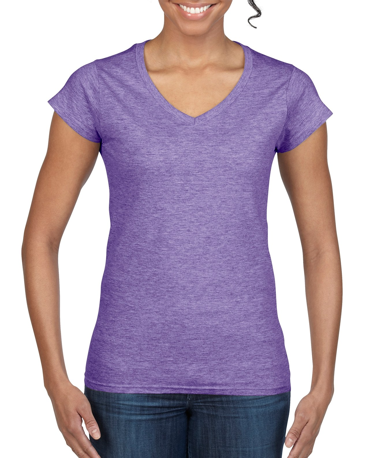 64V00L | Gildan Softstyle® | 4 5 oz/yd² | Ladies' V-Neck T
